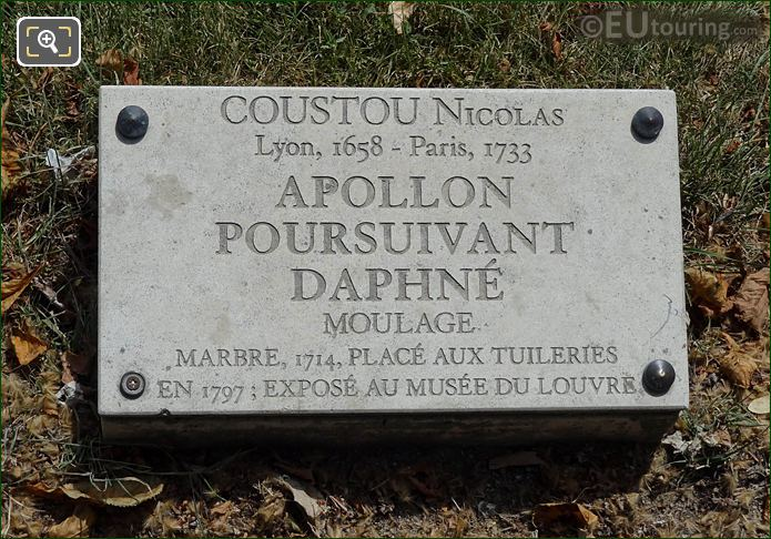Info Plaque Exedre Sud Water Feature