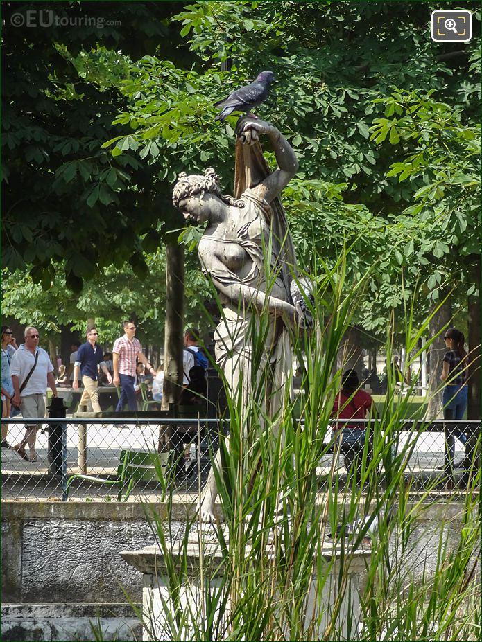 Venus Callipyge Exedre Sud Jardin Des Tuileries Looking NW