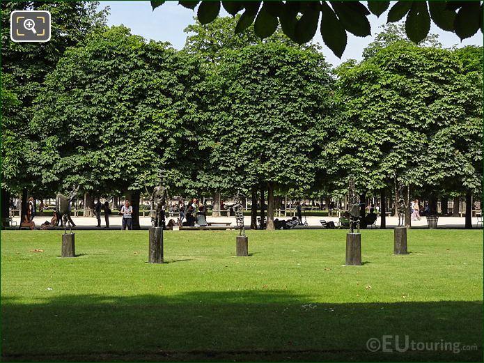 Grande Salle Verte Sud Inside Jardin Des Tuileries Looking North East