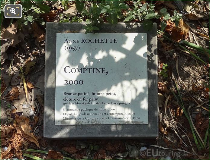Tourist Info Plaque Jardin Des Tuileries Vegetable Garden