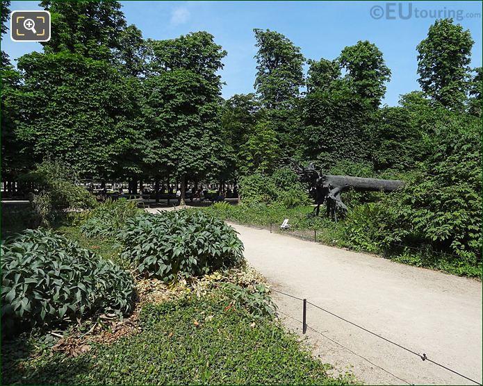 Bosquet Garden Pathway Inside Jardin Des Tuileries Looking North East