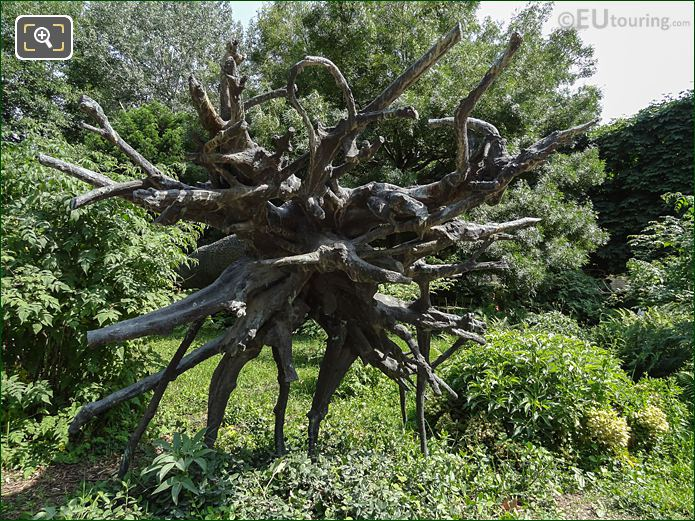 Grand Couvert Bronze Tree In Jardin Des Tuileries Looking South East