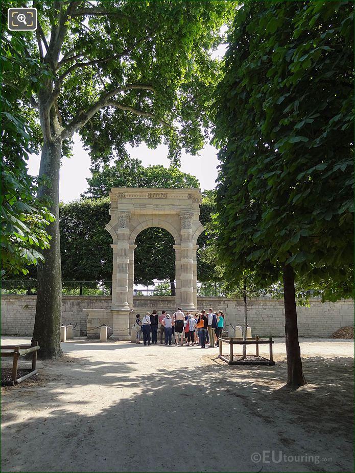 Vestige Du Palais Des Tuileries Looking SSW