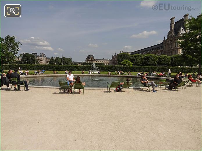 Jardin Tuileries SE Water Fountain And Pond
