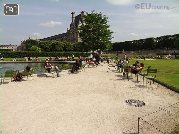 Vivier Sud Pond And Pathway In Jardin Des Tuileries Looking South East