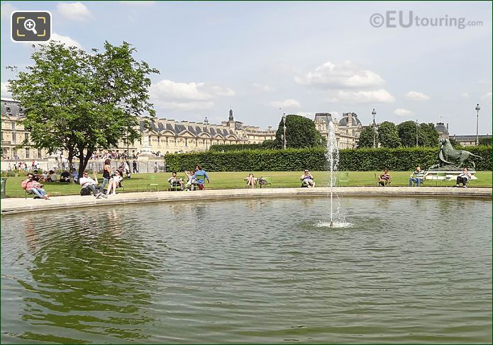 Looking East Over Vivier Sud Jardin Des Tuileries
