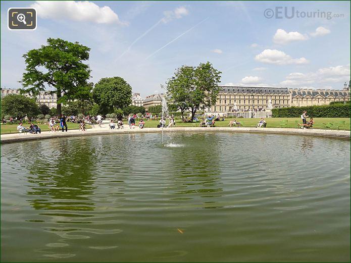 Fish Pond Jardin Des Tuileries Looking NE