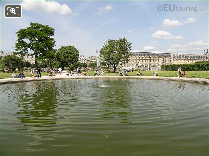SE Pond And Water Fountain Jardin Des Tuileries