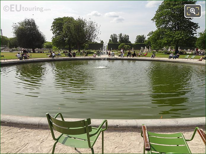Vivier Sud Pond Inside Jardin Des Tuileries Looking North West