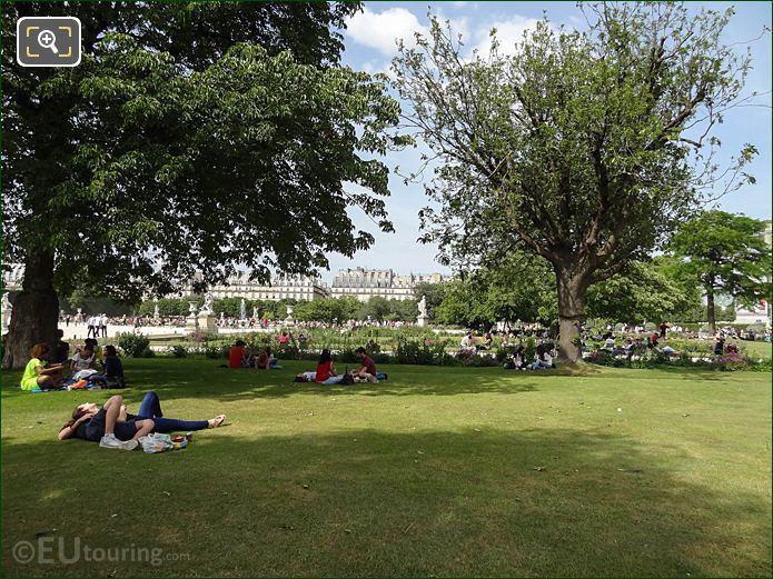 Petit Reserve Sud In Jardin Des Tuileries Looking NNE