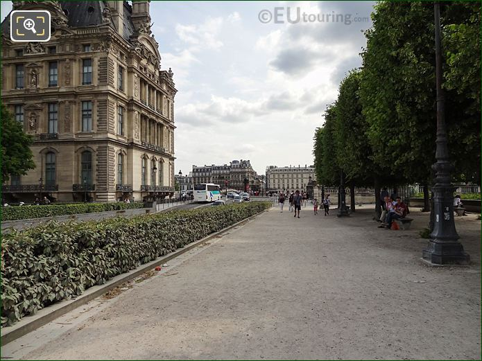 Terrasse Des Tuileries Pathway In Jardin Des Tuileries Looking South West