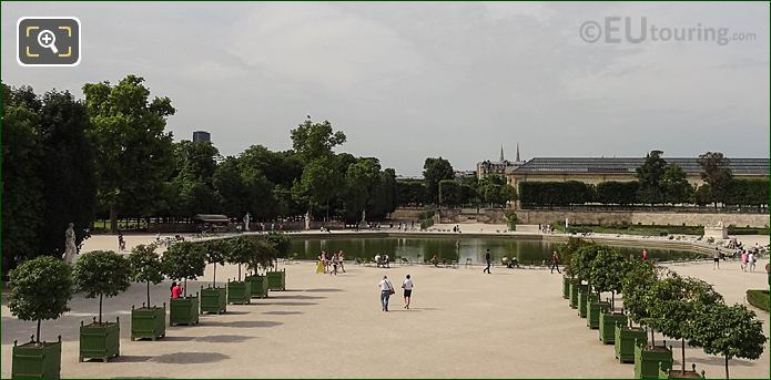 SW View Over Octagonal Basin Jardin Des Tuileries
