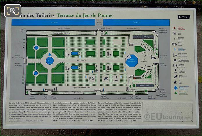 Information Map Jardin Des Tuileries