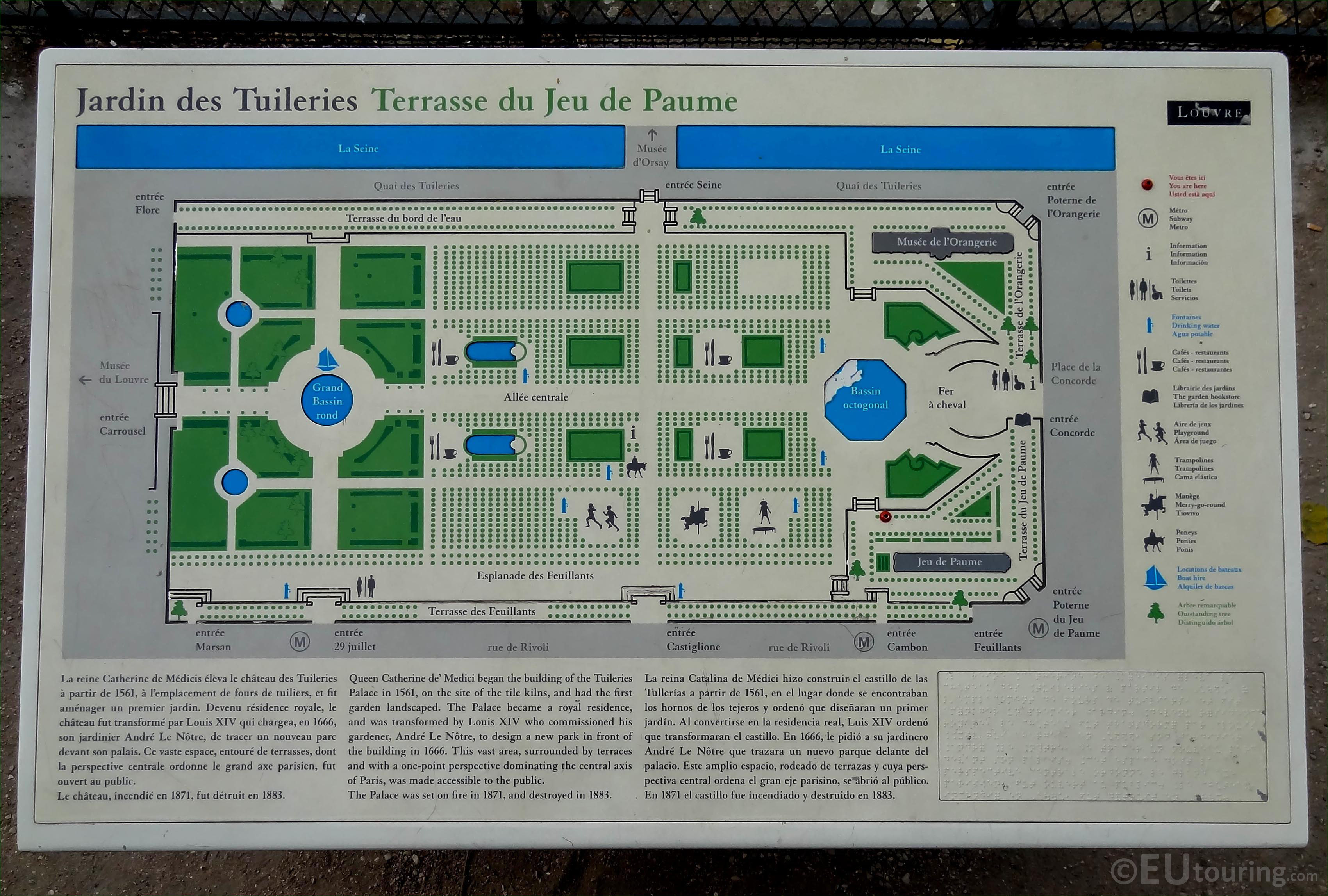 HD photos of Tuileries Gardens in Paris with map Page 1