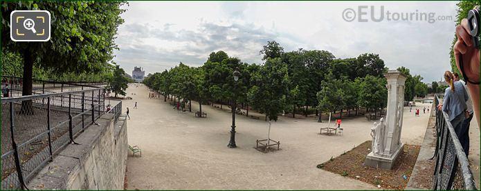 Panoramic Esplanade Des Feuillants Jardin Des Tuileries Looking SE