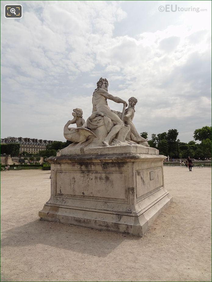 Fer A Cheval Inside Jardin Des Tuileries Looking East