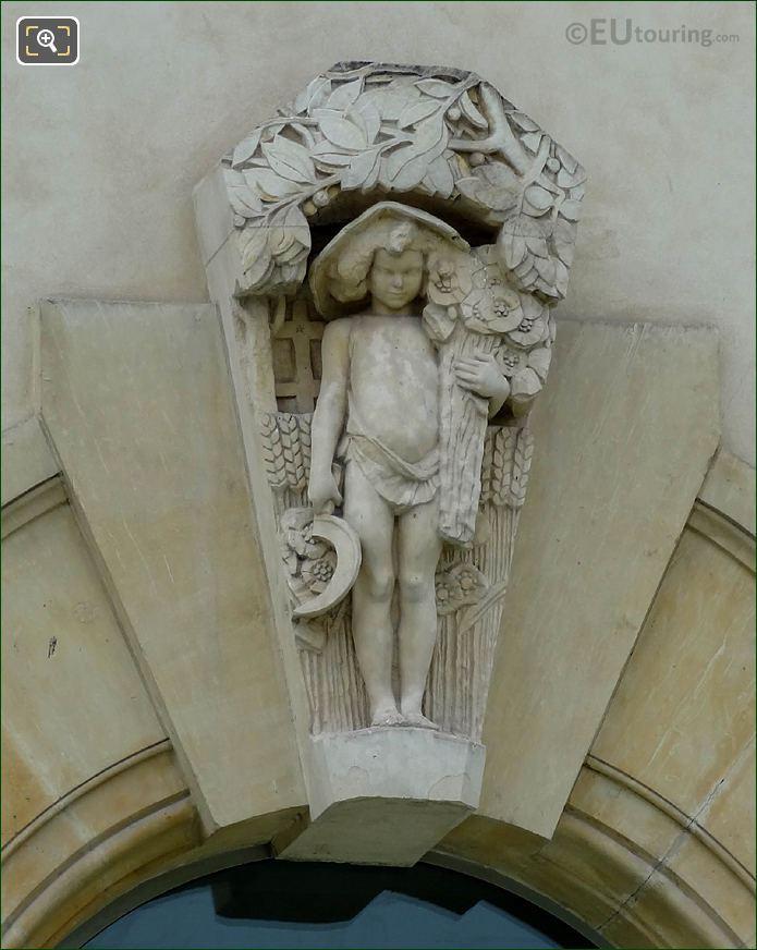 Window Sculpture Musee De l'Orangerie North Facade