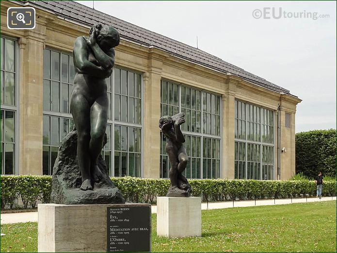 Musee De l'Orangerie Terrace Statues Looking SW