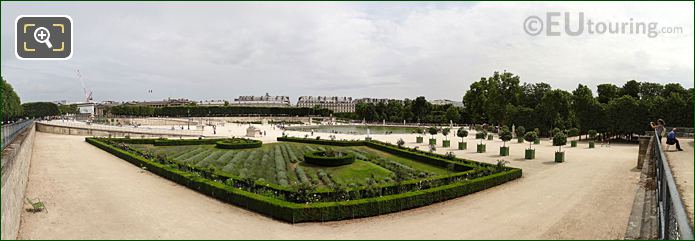 Panoramic From Terrasse De l'Orangerie Jardin Des Tuileries