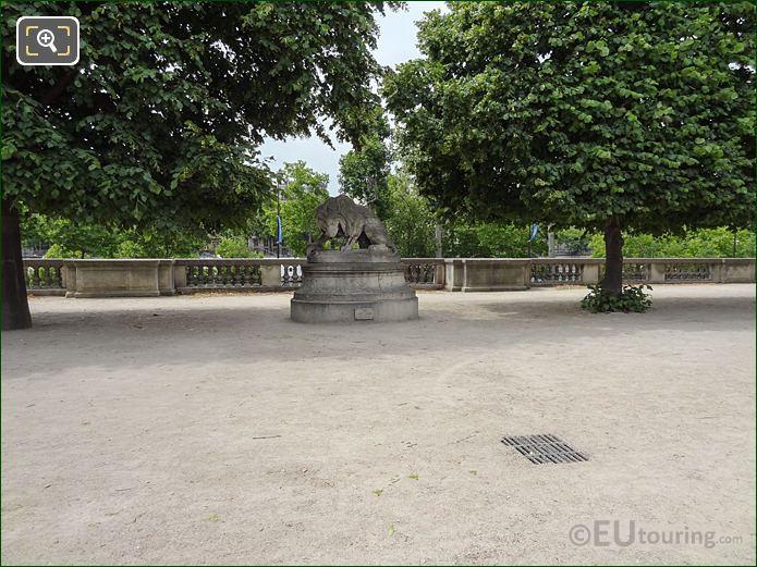 Terrasse Du Bord De l'Eau Inside Jardin Des Tuileries Looking South, South West
