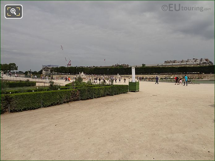 Fer A Cheval Inside Jardin Des Tuileries Looking North Westerly
