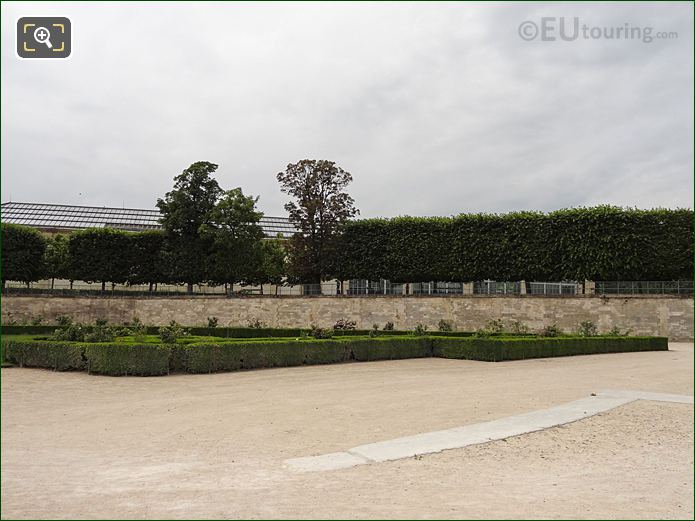 Roseraie Sud Garden Inside Jardin Des Tuileries Looking South