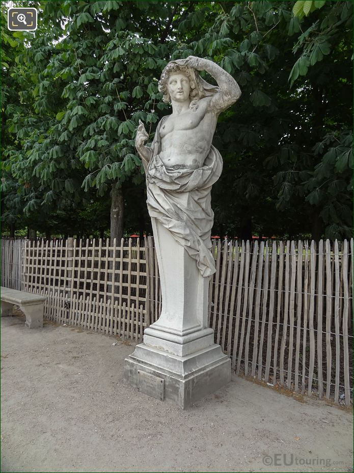 Fer A Cheval And Vertumne Statue In Jardin Des Tuileries Looking East