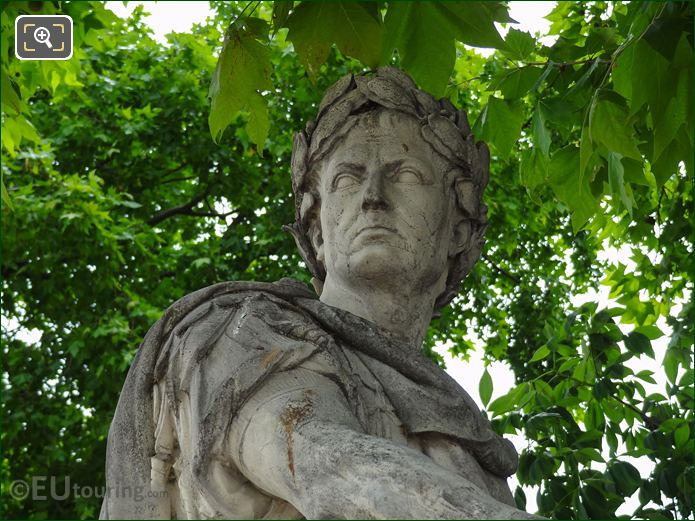 Grand Couverts Julius Caesar Statue In Jardin Des Tuileries Looking South East