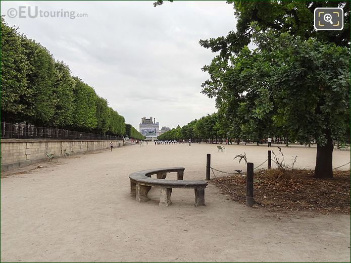 Esplanade Des Feuillants Pathway In Jardin Des Tuileries Looking South East