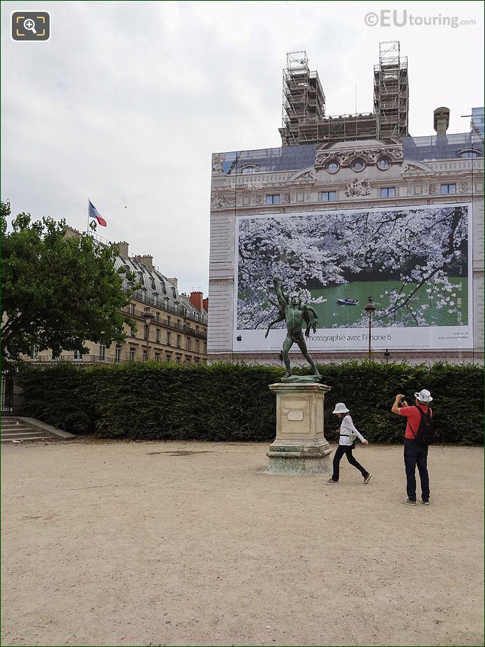 Esplanade Des Feuillants With Retour De Chasse Inside Jardin Des Tuileries Looking East