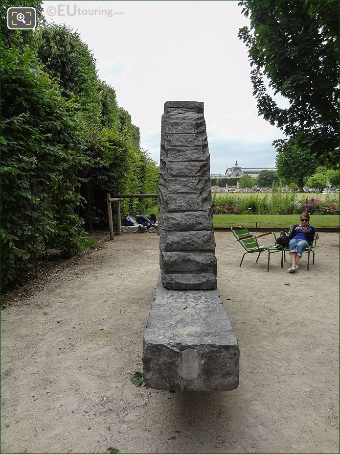 Allee Des Feuillants Pathway Inside Jardin Des Tuileries Looking South West