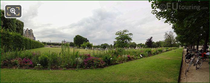 Panoramic Grand Carre Jardin Tuileries Looking SW
