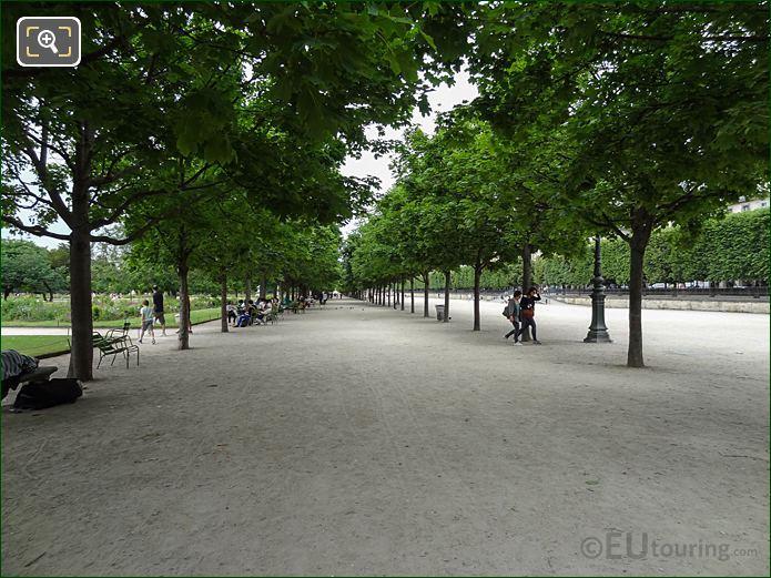 Allee Des Feuillants Pathway Inside Jardin Des Tuileries Looking North West