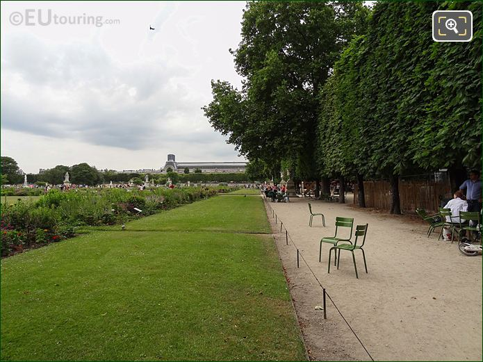 Allee De Diane Pathway Inside Jardin Des Tuileries Looking South West