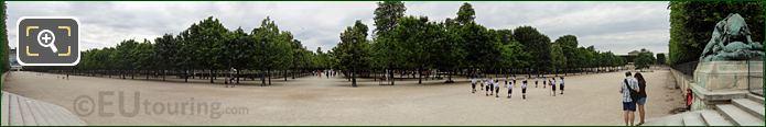 Esplanade Feuillants Jardin Tuileries Looking East To West