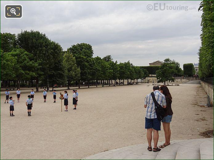 Esplanade Des Feuillants Inside Jardin Des Tuileries Looking North West