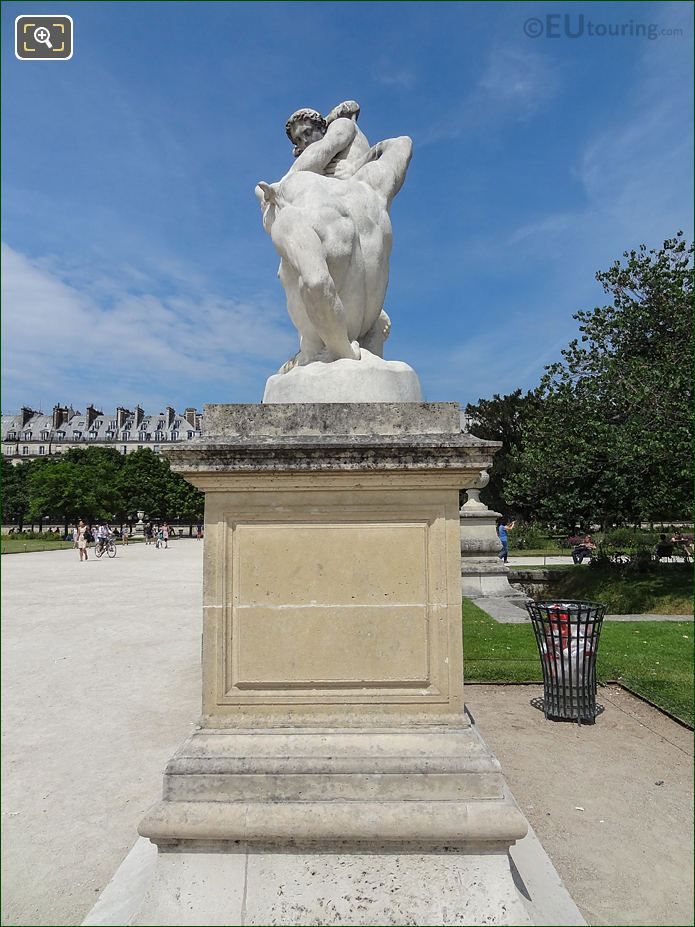 Grand Carre And Pathway In Jardin Des Tuileries Looking North, North East