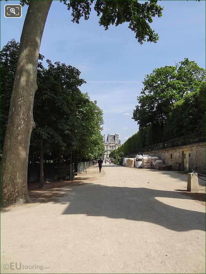 Allee Du Pied De La Terrasse Du Bord De l'Eau In Jardin Des Tuileries Looking South East