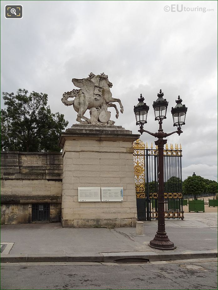 Western Entrance Gate Post For Jardin Des Tuileries Looking Easterly