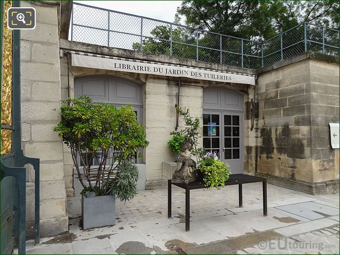 Book Shop Inside Jardin Des Tuileries Looking North, North East