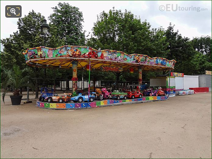 Childrens Fair Ground Ride Summer Fete Des Tuileries