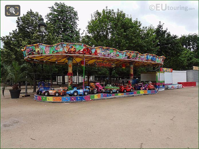 Childrens Fair Ground Ride Summer Fete Des Tuileries
