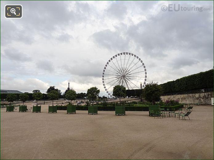 Roseraie Nord Garden Inside Jardin Des Tuileries Looking West