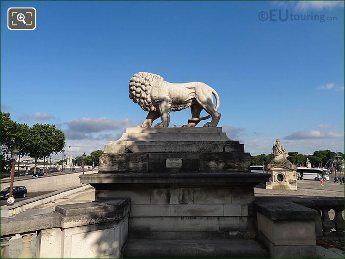 Lion Statue l'Orangerie Terrace Jardin Des Tuileries Looking NW
