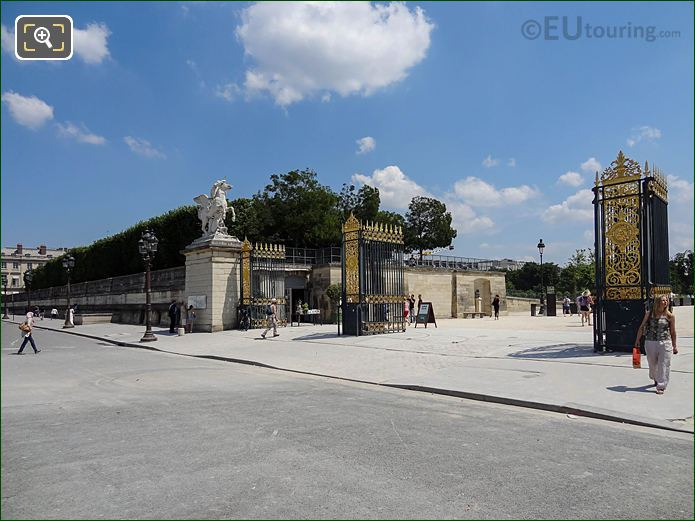 Gilded Gates West Entrance Jardin Des Tuileries Looking NE