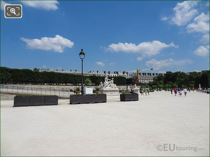 Fer A Cheval Area In Jardin Des Tuileries Looking North East