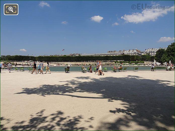 Bassin Octogonal Jardin Des Tuileries Looking North