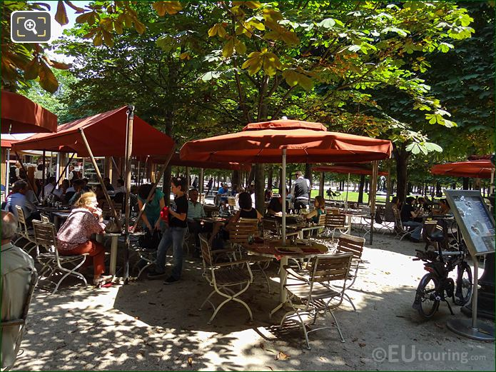 Cafe Renard Jardin Des Tuileries Looking NE