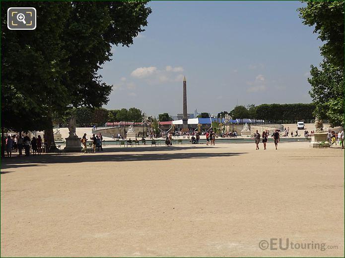 Allee Centrale Jardin Des Tuileries Looking NW