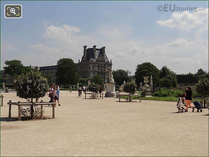 SE Over Grand Carre Area In Jardin Des Tuileries